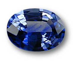 Color zoning in blue sapphire