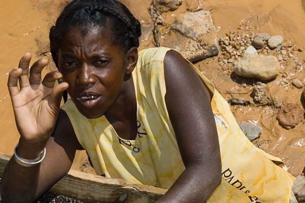 Sapphire miner near Ilakaka