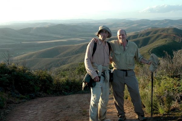 Vincent Pardieu and Richard Hughes after a long walk to the Andrebabe sapphire mines