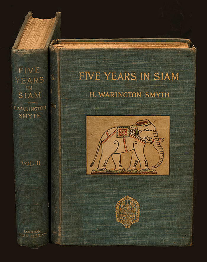 Cover of H. Warington Smyth's Five Years in Siam—From 1891 to 1896. This is the most difinitive account of ruby and sapphire mining in Siam in the 19th century. From the William Larson Collection. Photo: Mix Dixon