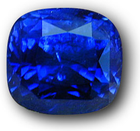 This 7-ct. plus untreated Ceylon sapphire is a perfect example of why origin should be a non-issue with fine gems. Photo: John McLean; Gem: Pala International